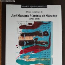 Libros: OBRAS COMPLETAS DE JOSÉ MANZANA MARTÍNEZ DE MARAÑÓN COL 3 DIPUTACIÓN ALAVA. Lote 176106594