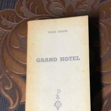 Libros: LIBRO AÑO 1969. LIBRO, GRAN HOTEL. VICKI BAUM.. Lote 178723481