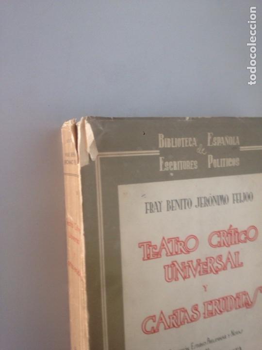 Libros: TEATRO CRITICO UNIVERSAL Y CARTAS ERUDITAS - Foto 2 - 178736591