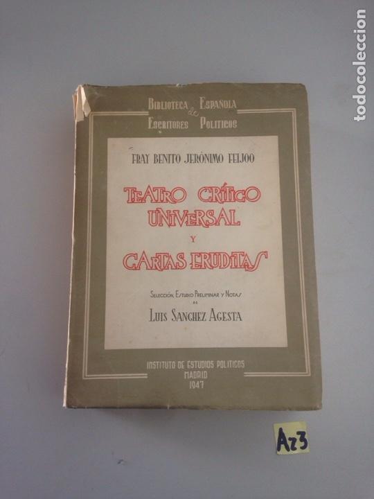 TEATRO CRITICO UNIVERSAL Y CARTAS ERUDITAS (Libros Nuevos - Historia - Otros)