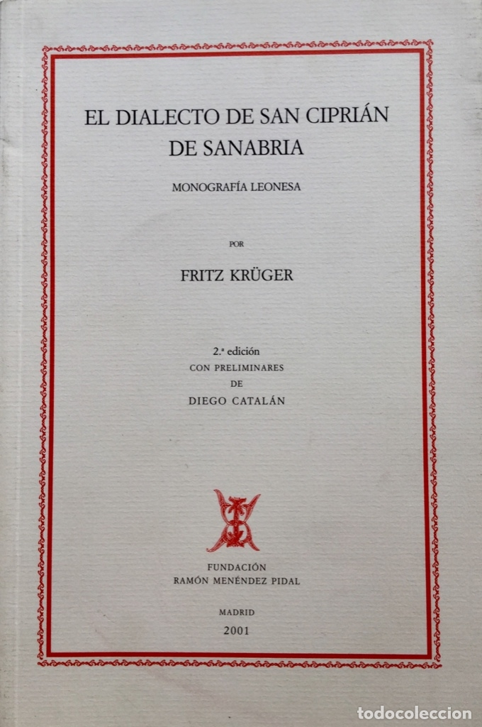 EL DIALECTO DE SAN CIPRIAN DE SANABRIA. REF: AX445 (Libros Nuevos - Historia - Otros)