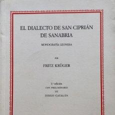 Libros: EL DIALECTO DE SAN CIPRIAN DE SANABRIA. REF: AX445. Lote 180088386