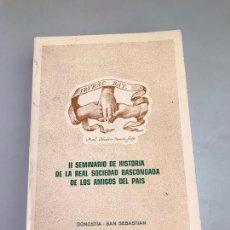 Libros: SEMINARIO DE HISTORIA DE LA REAL VASCONGADA. Lote 180176872