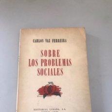 Libros: SOBRE LOS PROBLEMAS SOCIALES. Lote 180177370