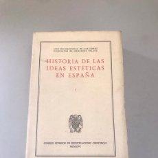 Libros: HISTORIA DE LAS IDEAS ESTÁTICAS EN ESPAÑA. Lote 180204748