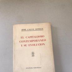 Libros: EL CAPITALISMO CONTEMPORÁNEO Y SU EVOLUCIÓN. Lote 180204913