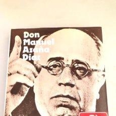 Libros: AGUADO, EMILIANO: DON MANUEL AZAÑA. Lote 180246871