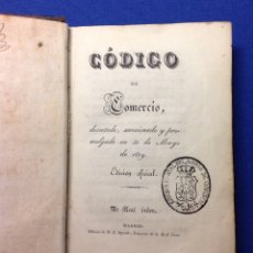 Libros: CÓDIGO DE COMERCIO. MADRID 1829.. Lote 180453535
