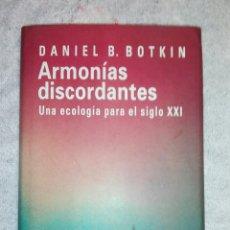 Libros: ARMONIAS DISCORDANTES...UNA ECOLOGIA PARA EL SIGLO XIX. Lote 181961772