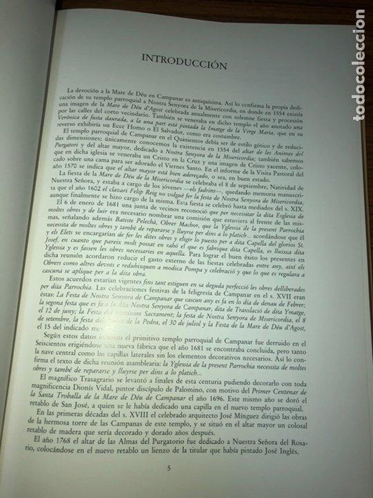 Libros: QUART CENTENARI DE LA SANTA TROBALLA DE LA NARE DE DEU DE CAMPANAR 1596-1996. - Foto 3 - 183706062