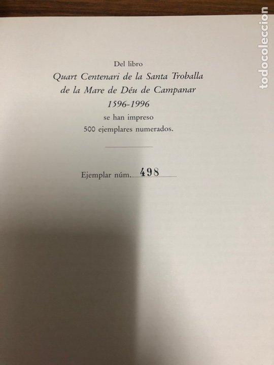 Libros: QUART CENTENARI DE LA SANTA TROBALLA DE LA NARE DE DEU DE CAMPANAR 1596-1996. - Foto 2 - 183706062
