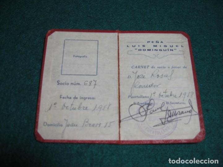 Libros: CARNET DE LA PEÑA LUIS MIGUEL DOMINGUIN, EN PUERTOLLANO - Foto 2 - 184292077