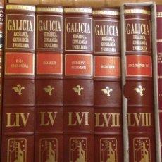 Libros: GALICIA. HERÁLDICA, GENEALOGÍA Y NOBILIARIA. PROYECTO GALICIA. 5 TOMOS NUEVOS A ESTRENAR.. Lote 184318831