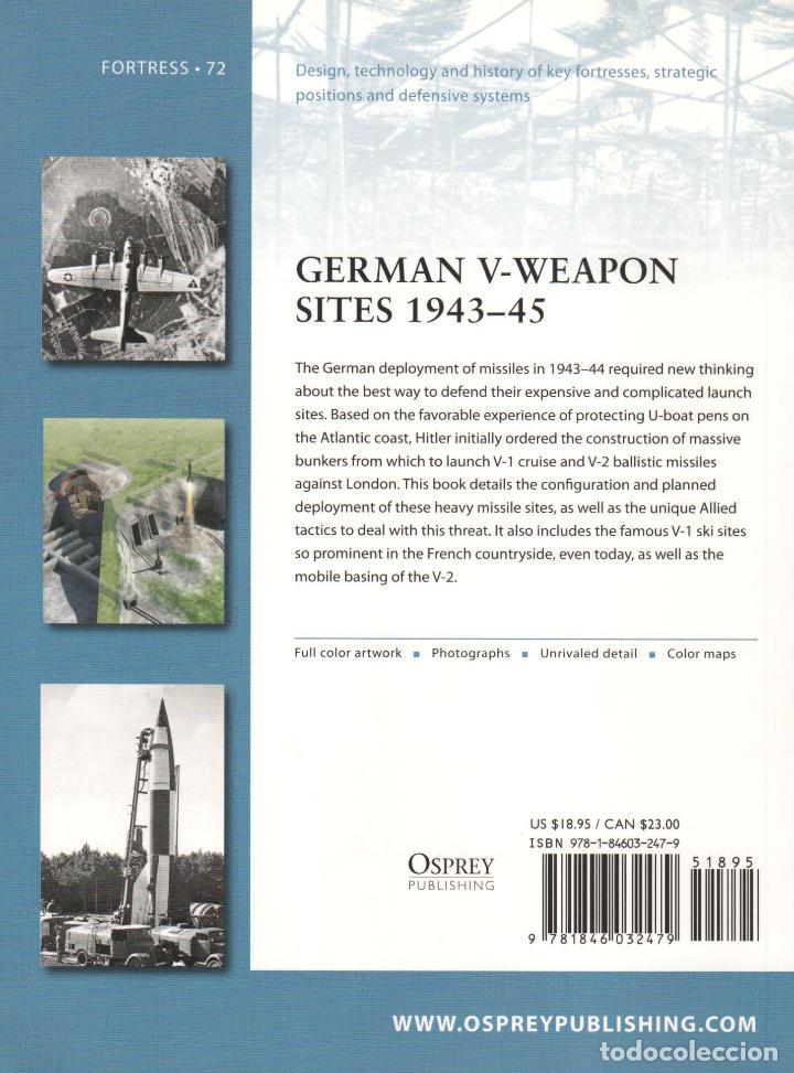 Libros: LIBRO OSPREY - SERIE FORTRESS - German V-Weapon Sites 1943/45 - nº 72 - Foto 2 - 194585565