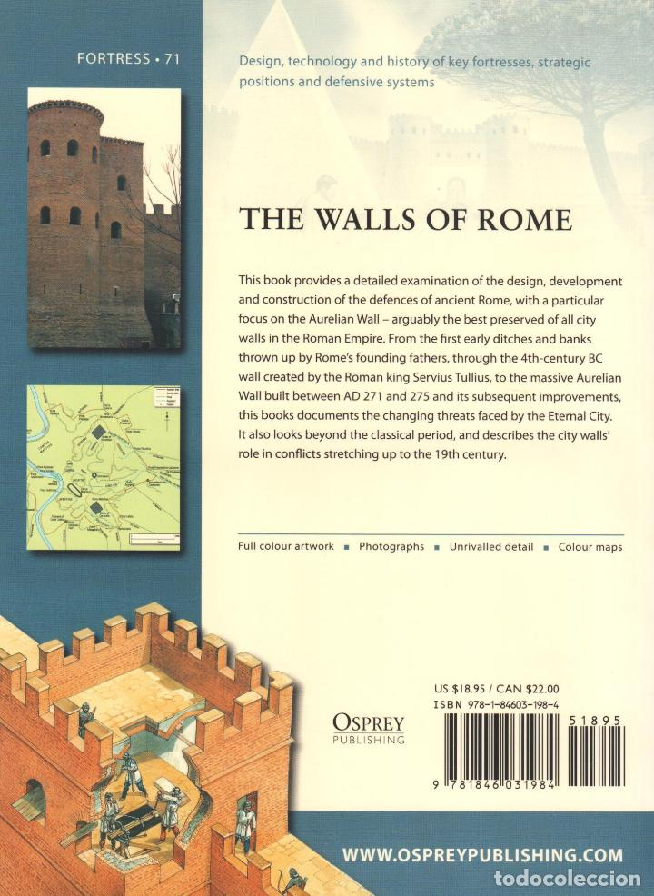 Libros: LIBRO OSPREY - SERIE FORTRESS - The Walls of Rome - nº 71 - Foto 2 - 194585741