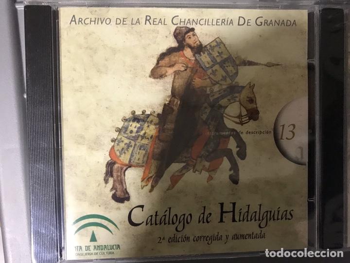 Libros: CATÁLOGO DE HIDALGUÍAS. REAL CHANCILLERIA DE GRANADA 4 CDS - Foto 2 - 194613400