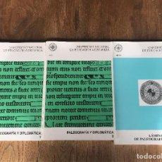Libros: PALEOGRAFÍA Y DIPLOMÁTICA (1 Y 2) + LÁMINAS . Lote 197524246