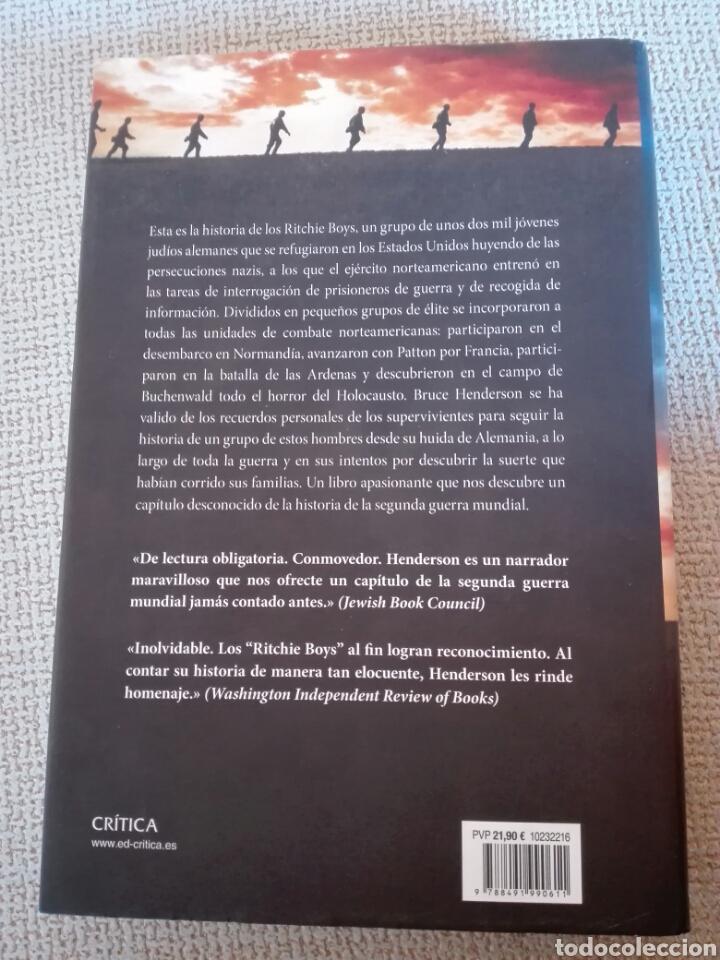 Libros: Hijos y soldados La extraordinaria historia de los Ritchie Boys. Ed. Crítica. Libro nuevo - Foto 3 - 198299833