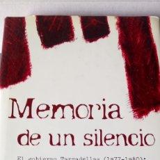 Libros: LIBRO MEMORIA DE UN SILENCIO. JOSEP MARIA BRICALL. EDITORIAL PLAZA JANES. AÑO 2003.. Lote 200316941