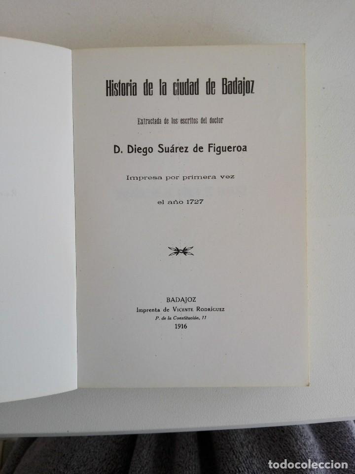 Libros: Historia de la ciudad de Badajoz - Foto 3 - 200732085