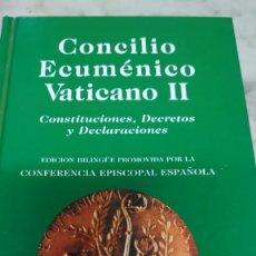 Libros: CONCILIO VATICANO II CONSTITUCIONES DECRETOS Y DECLARACIONES PRPM 100. Lote 208109656