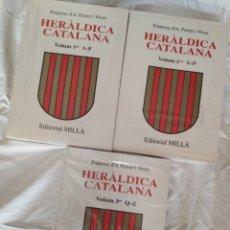 Livres: HERÀLDICA CATALANA, FRANCESC D'A. FERRER I VIVES. VOL. I, II Y III. MILLÀ, 1993/95/98. Lote 209757793