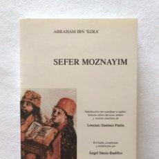 """Libros: SEFER MOZNAYIM. ABRAHAM IBN """"EZRA"""". AUTORES HEBREOS DE AL ANDALUS.. Lote 210561160"""