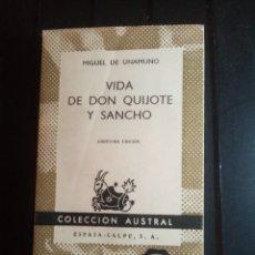 Libros: VIDA DE DON QUIJOTE Y SANCHO COLECCIÓN AUDTRAL. Lote 210694904
