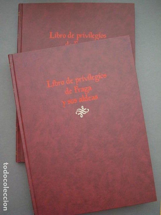 Libros: Libro de Privilegios de Fraga y sus Aldeas. I: Ed facsímil. II: Transcripción,estudios.Cortes ARAGÓN - Foto 3 - 215182983