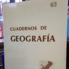 Libros: CUADERNOS DE GEOGRAFÍA-N°63 1998-UNIVERSITAT DE VALENCIA FACULTAD DE GEOGRAFÍA I HISTORIA-. Lote 219064022