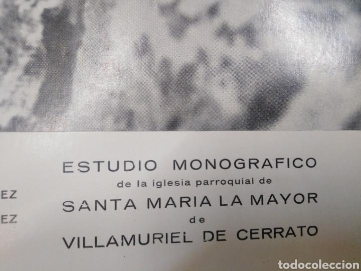 Libros: ESTUDIO MONOGRAFICO DE LA IGLESIA PARROQUIAL DE STA.MARIA LA MAYOR DE VILLAMURIEL DE CERRATO,1966, - Foto 2 - 219086897