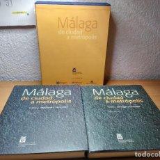 Libros: MALAGA DE CIUDAD A METROPOLIS ALFREDO RUBIO DIA. REME. Lote 220315872