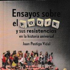 Libros: ENSAYOS SOBRE EL PODER Y SUS RESISTENCIAS EN LA HISTORIA UNIVERSAL (JUAN POSTIGO) I.F.C. 2020. Lote 221357721