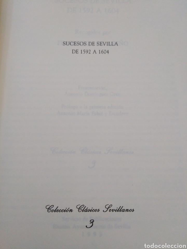Libros: Facsímil, sucesos de Sevilla de 1592 a 1604, recogidos por Francisco de ariño - Foto 3 - 222267718