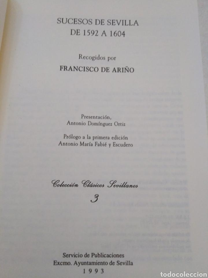 Libros: Facsímil, sucesos de Sevilla de 1592 a 1604, recogidos por Francisco de ariño - Foto 4 - 222267718