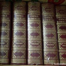 Libros: COSTUMARI CATALA COMPLET 5 TOMS. EL CURS DE L'ANY. Lote 222505466