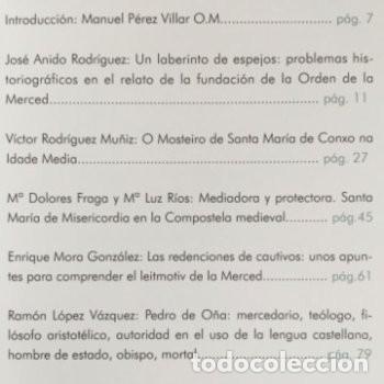 Libros: Ochocientos años de la Orden de la Merced. Patrimonio, Cultura y pensamiento. Xunta de Galicia - Foto 2 - 226792125