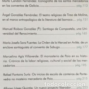 Libros: Ochocientos años de la Orden de la Merced. Patrimonio, Cultura y pensamiento. Xunta de Galicia - Foto 3 - 226792125