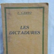 Libros: LES DICTADURES. Lote 226909062