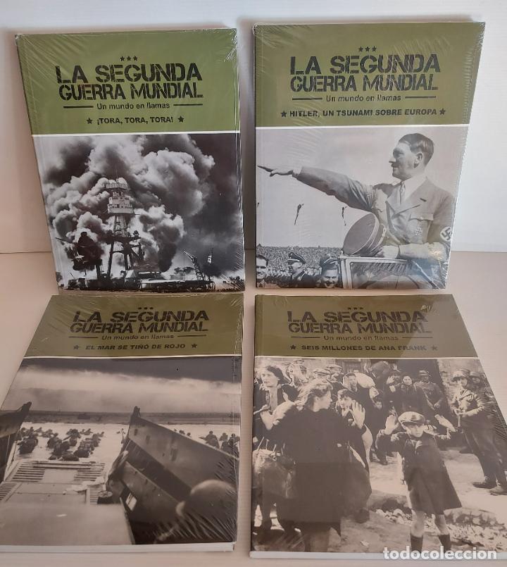 LA SEGUNDA GUERRA MUNDIAL / UN MUNDO EN LLAMAS / COMPLETA / 4 TOMOS PRECINTADOS / SIN DVD (Libros Nuevos - Historia - Otros)