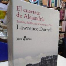 Livros: EL CUARTETO DE ALEJANDRÍA-JUSTINE/BALTHAZAR/MOUNTOLIVE/CLEA-LAWRENCE DURRELL-4 TOMOS COMPLETO,EDHASA. Lote 227861200