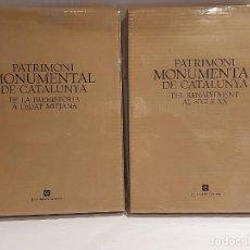 Libros: PATRIMONI MONUMENTAL DE CATALUNYA / COMPLETA 2 TOMOS / ENCICLOPÈDIA CATALANA / SIN ESTRENAR.. Lote 228956640