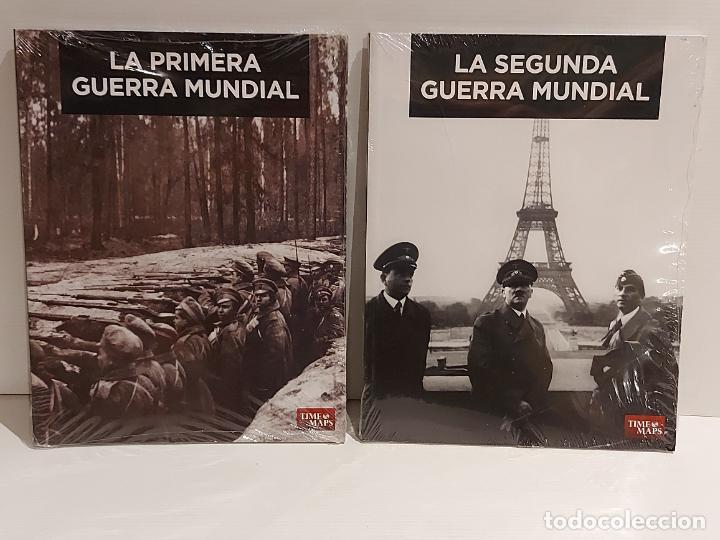 LA PRIMERA Y LA SEGUNDA GUERRA MUNDIAL / EDITA TIME MAPS / 2 VOLÚMENES PRECINTADOS.. (Libros Nuevos - Historia - Otros)