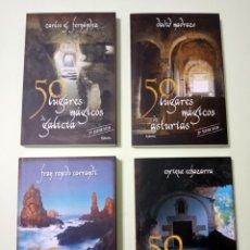 """Libros: 4 LIBROS DE LA COLECCIÓN """"LUGARES MÁGICOS"""", DEL NORTE DE ESPAÑA. Lote 243880190"""