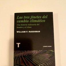 """Libros: """"LOS TRES JINETES DEL CAMBIO CLIMÁTICO"""". Lote 244996935"""