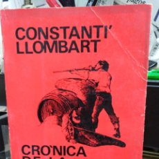 Libros: CRÓNICA DE LA REVOLUCIO CANTONAL-CONSTANTI LLOMBART-EDITA L'ESTEL 1973. Lote 245174260