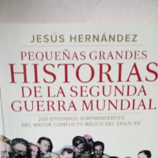 Libros: LIBRO PEQUEÑAS GRANDES HISTORIAS DE LA II GUERRA MUNDIAL. JESÚS HERNÁNDEZ. EDITORIAL TEMAS DE HOY.. Lote 245545735