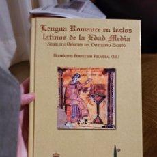 Livres: LENGUA ROMANCE EN TEXTOS LATINOS DE LA EDAD MEDIA. NUEVO. ED UNIVERSIDAD DE BURGOS 2003. Lote 254291570