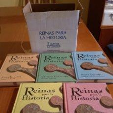 Libros: COLECCIÓN COMPLETA DE REINAS PARA LA HISTORIA 5 TOMOS NUEVO SIN ESTRENAR. Lote 266954004