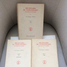 Libros: DICCIONARIO DE ANTIGUEDADES DEL REINO DE NAVARRA (TRES TOMOS, OBRA COMPLETA) JOSE YANGUAS MIRANDA. Lote 267432669